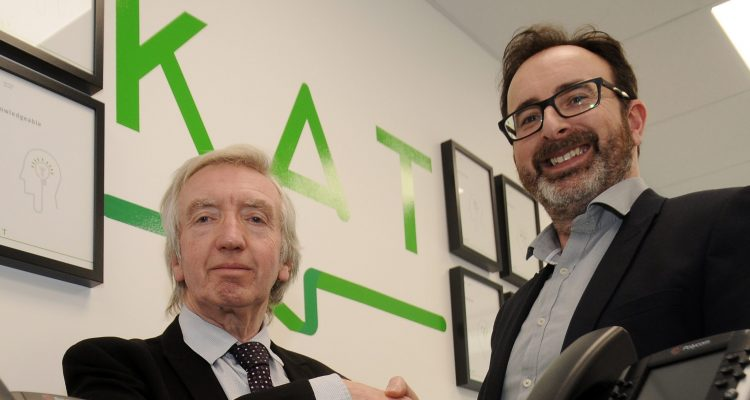 Investment Manager Alan Scott and KAT Communications' Managing Director, Anthony Temperton